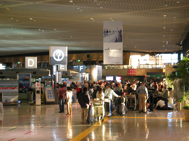 Narita the next day