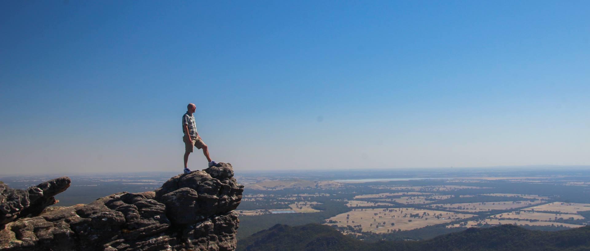 I climbed a thing